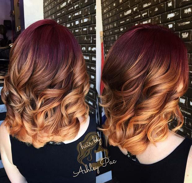 Warm Fall Ombre Hair Idea