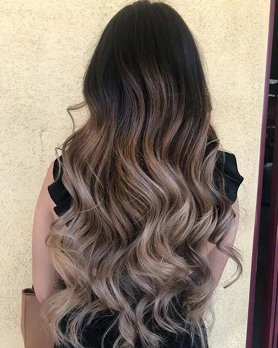 Black to Blonde Balayage Hair