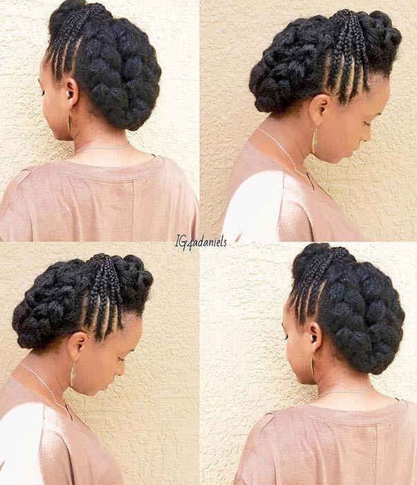 23 Beautiful Braided Updos for Black Hair , crazyforus