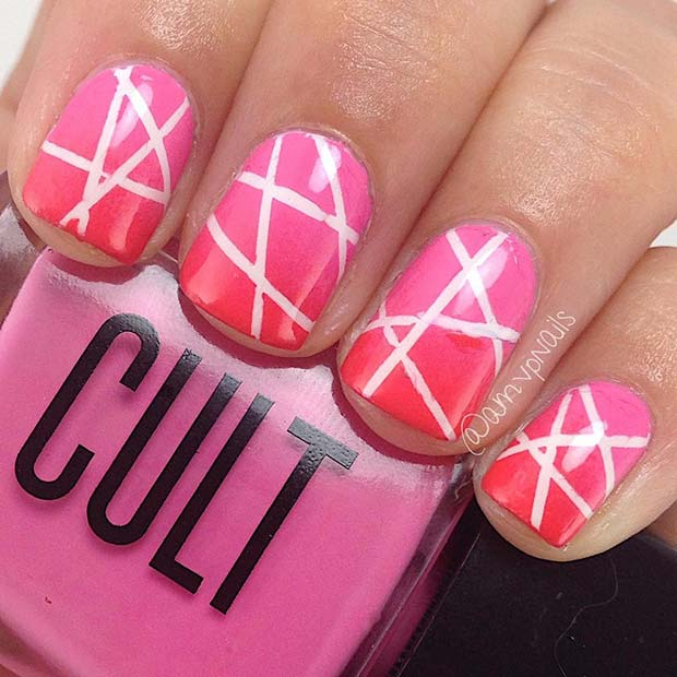 Creative Patterned Nail Design