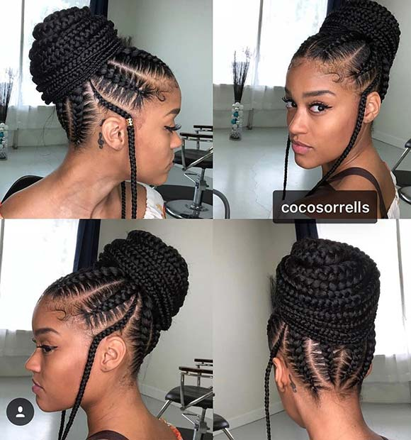 23 Beautiful Braided Updos For Black Hair Crazyforus