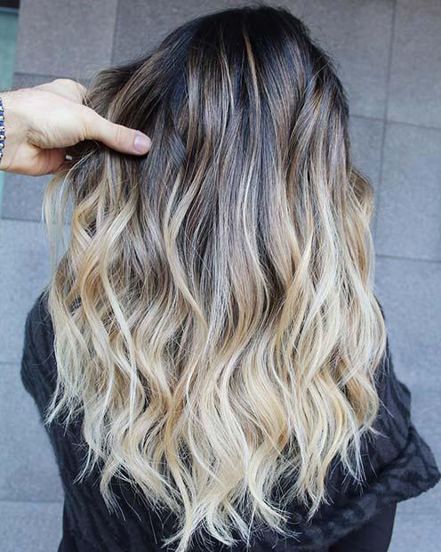 Black to Brown to Blonde Hair