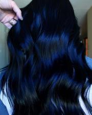 beautiful blue black hair color