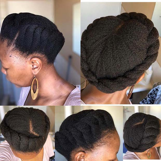 Chic Crown Braid Updo for Natural Hair