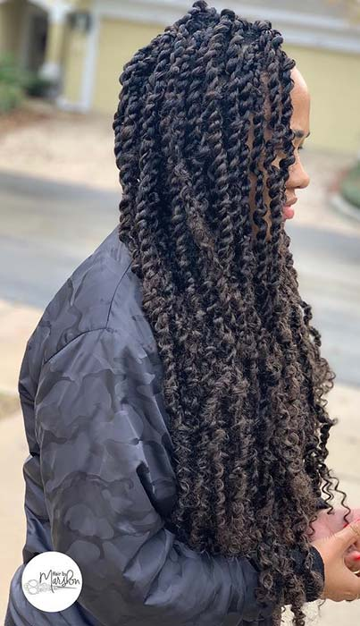 6. Trendy, Long Passion Twists
