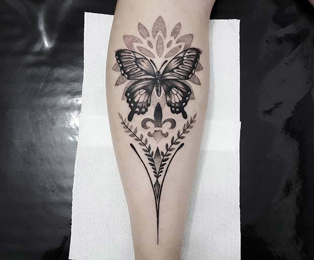 Bold Butterfly Tattoo Idea