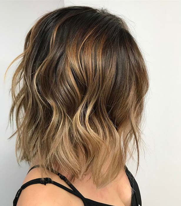 Caramel and Dirty Blonde Bob