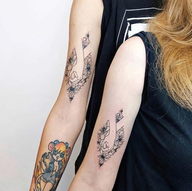 Holding Hands Tattoo Design
