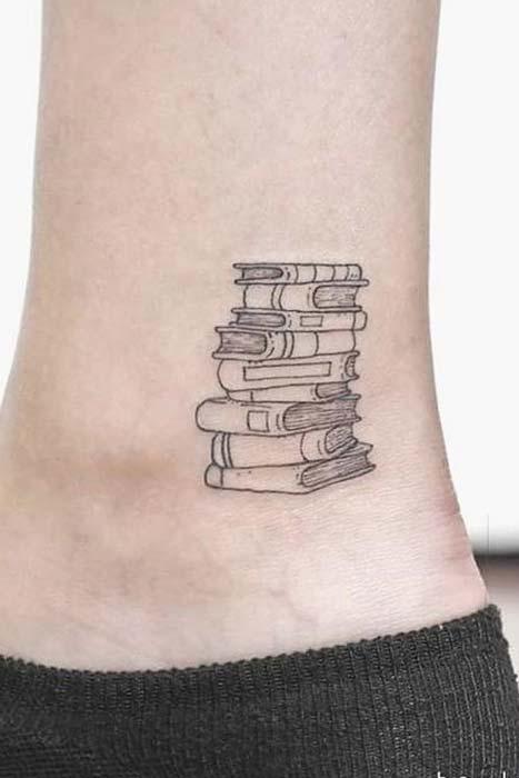 Tiny Book Tattoo Idea
