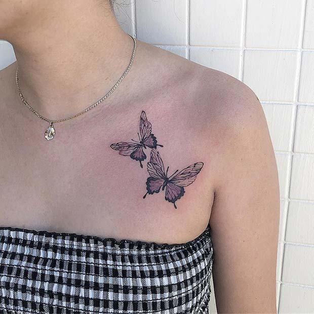 Two Butterflies Tattoo Design