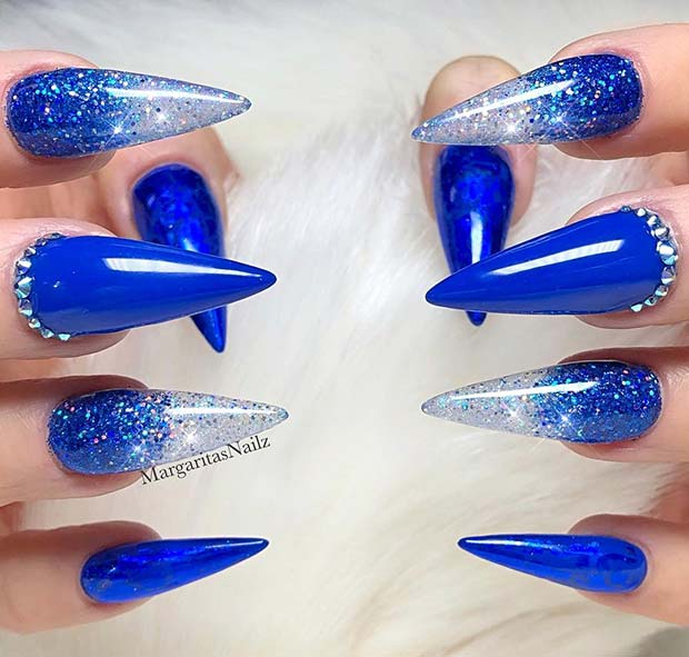 23 Chic Blue Nail Designs You Will Want to Try ASAP , crazyforus