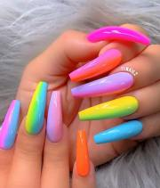neon nail design perfect