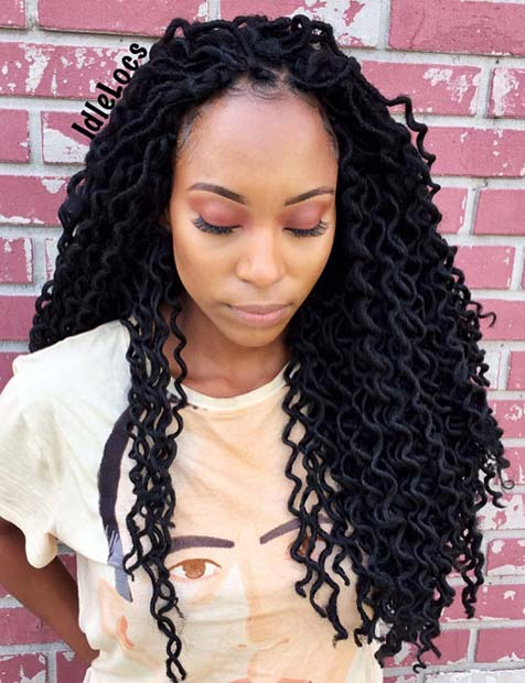 13 Chic Ways To Wear And Style Curly Faux Locs Crazyforus