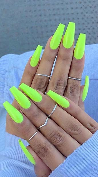 13 Trendy Neon Nail Designs That You Must Wear on Summer