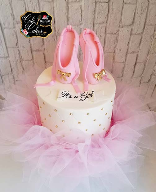 Ballerina Cake for a Girl's Baby Shower