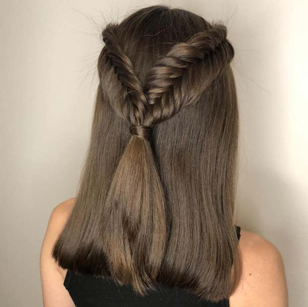 11 Half Up Half Down Braid Hairstyles To Practice Crazyforus