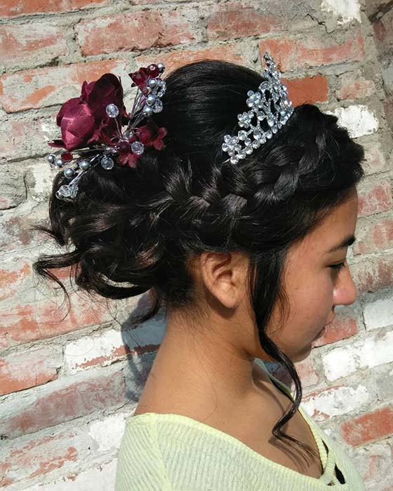 Glam, Accessorized Updo