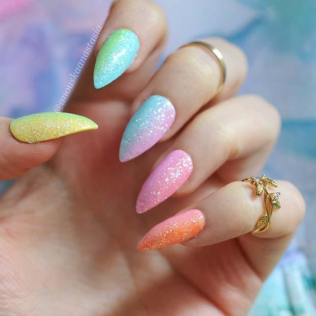 Pretty Ways to Wear Rainbow Nails This Summer