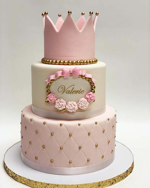 Gorgeous Cake with a Crown