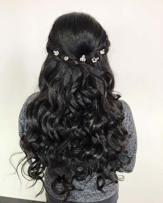 Sparkling Quinceanera Hairstyle