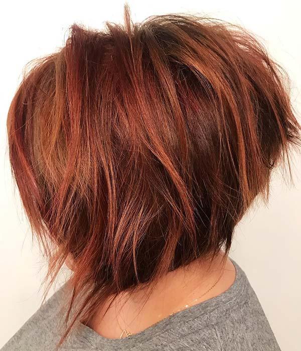 Short Layered Red Haircut