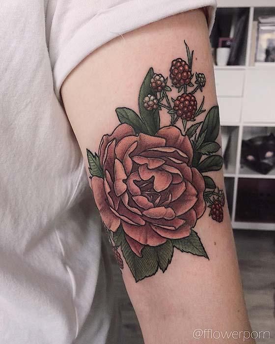 e8d653a3699b2 Beautiful Peony Tattoo Ideas for Women - crazyforus
