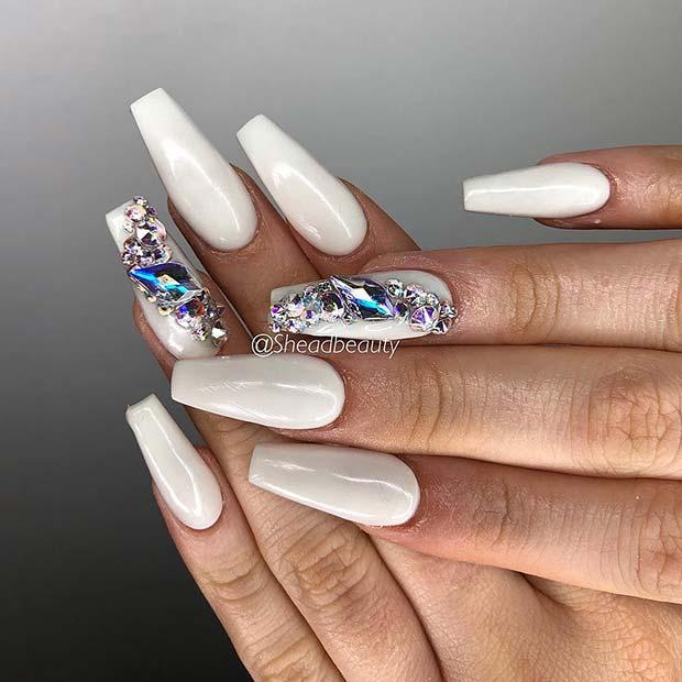 Crazy,Gorgeous Nail Ideas for Coffin Shaped Nails , crazyforus