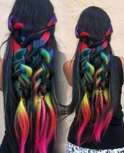 rainbow hair ideas bold