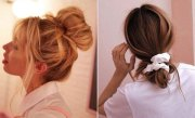 cute and easy messy bun hairstyles