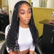 trendy goddess box braids hairstyles