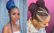 braided bun hairstyles black