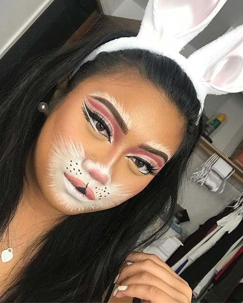 White Rabbit Makeup : white, rabbit, makeup, Bunny, Makeup, Ideas, Halloween, StayGlam