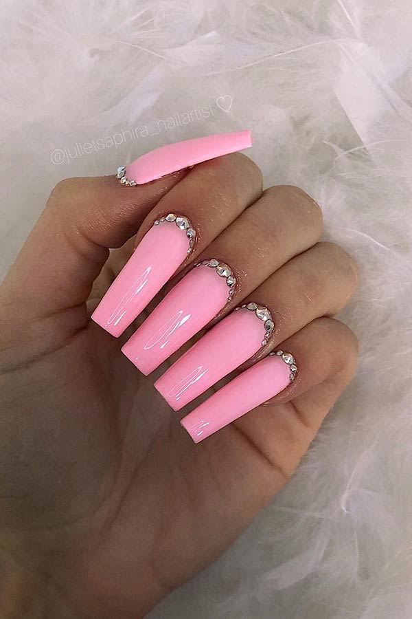 Long Square Acrylic Nails : square, acrylic, nails, Popular, Square, Acrylic, Nails, StayGlam