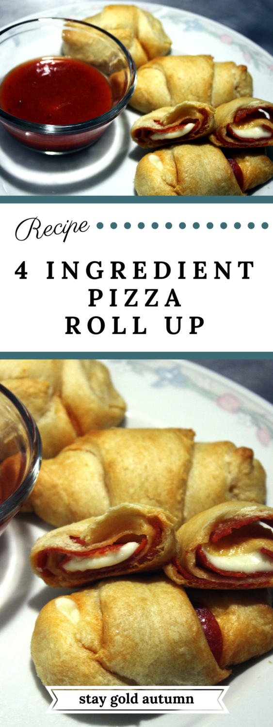 4 ingredient pizza roll ups: I'll definitely be filing this under quick and easy recipes! | Stay gold Autumn