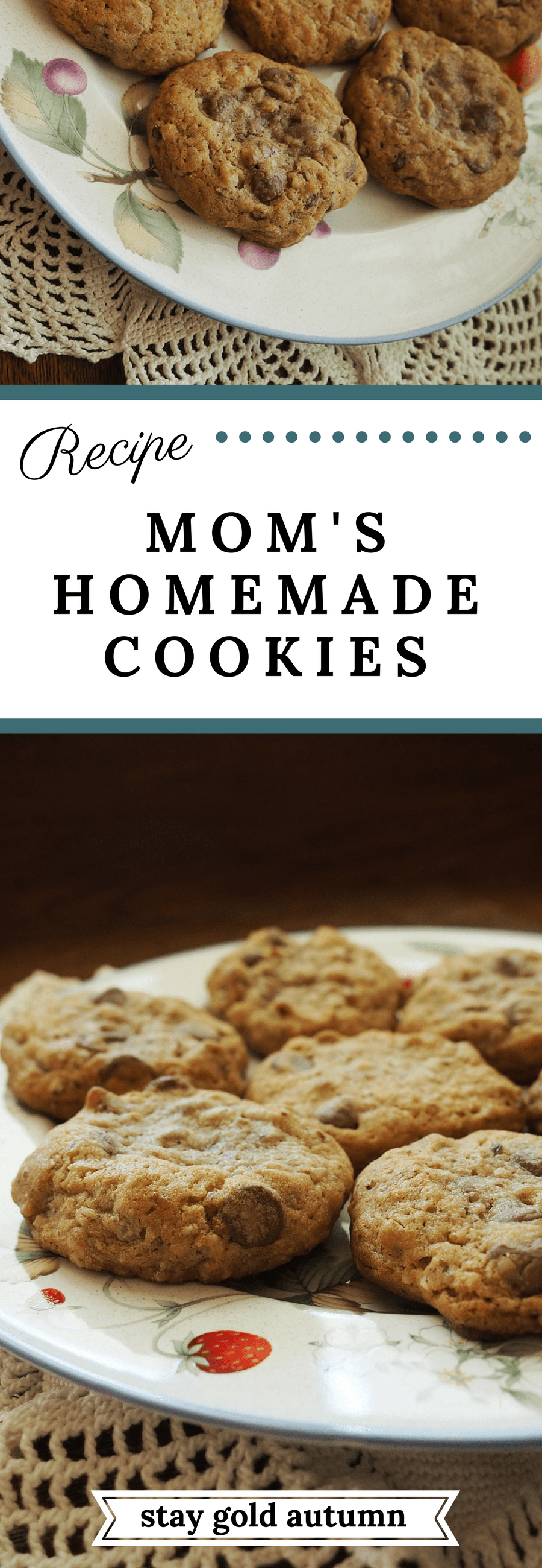 Mom's homemade cookies: every time I go home, I always look forward to these cookies being fresh out of the oven. | Stay gold Autumn