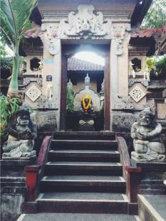 Typical entrance to Balinese home, Indonesia