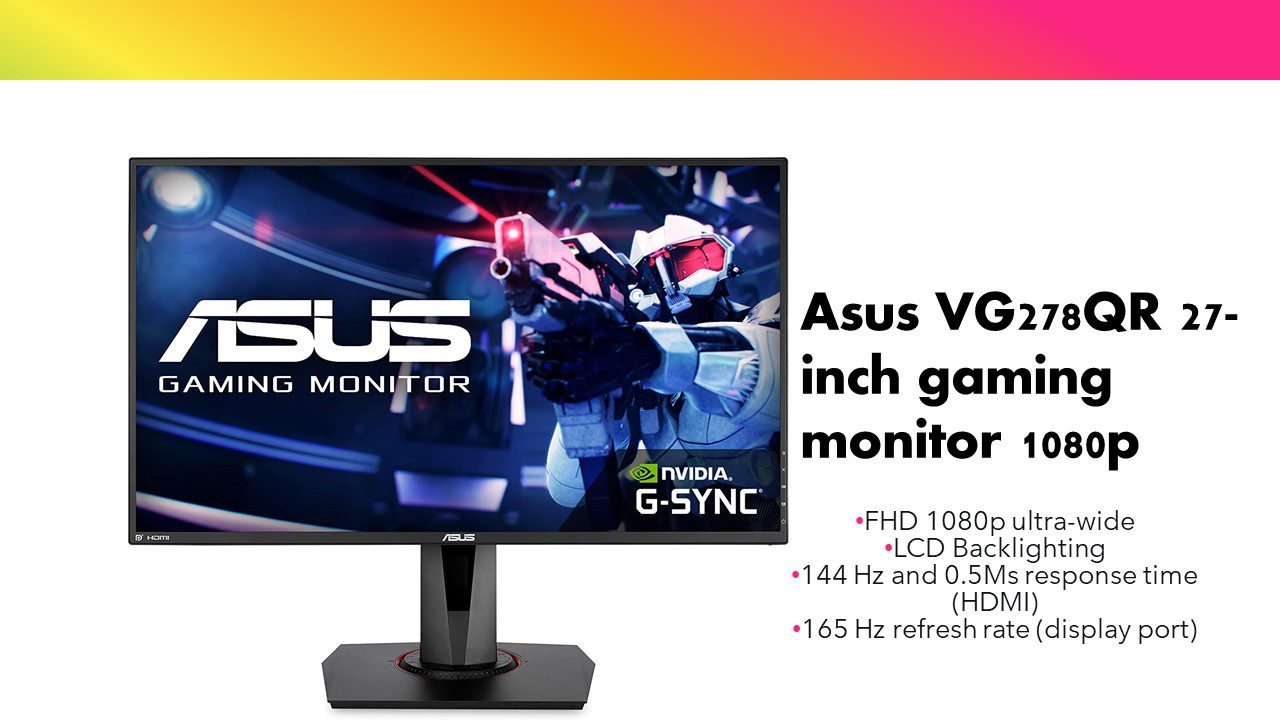 Read more about the article Asus VG278QR 27-inch gaming monitor FHD 1080p ultra-wide 0.5Ms response time