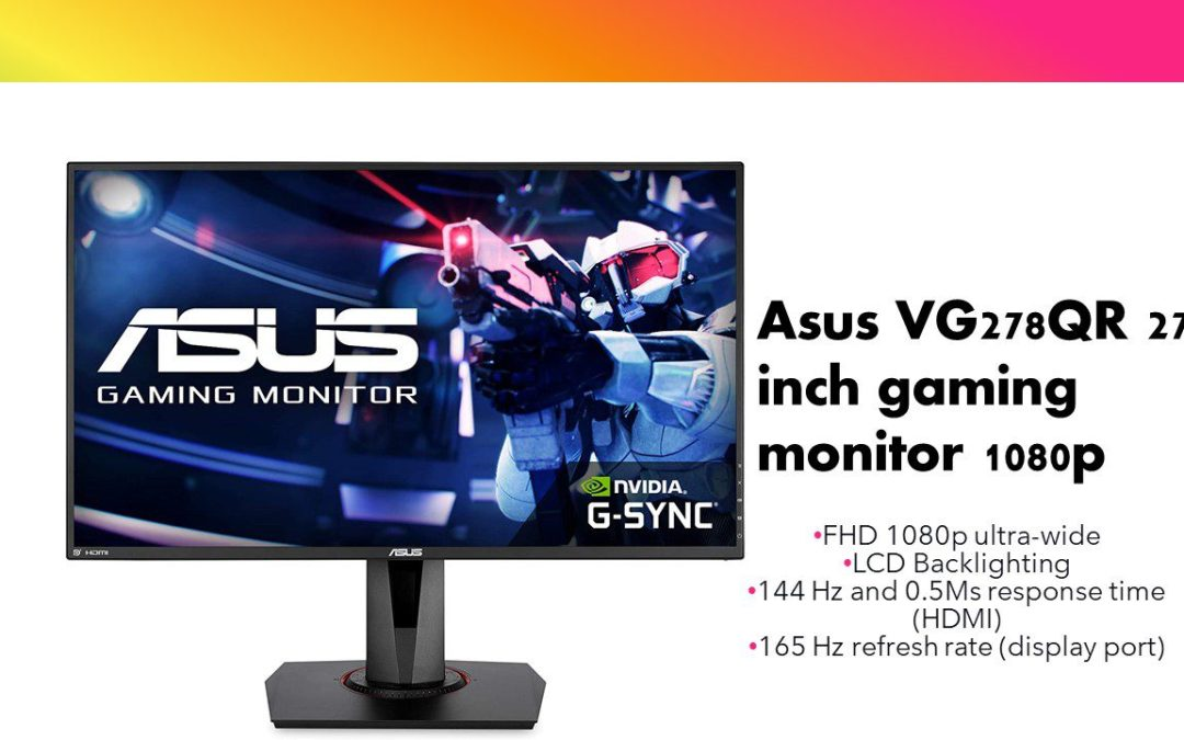 Asus VG278QR 27-inch gaming monitor FHD 1080p ultra-wide 0.5Ms response time