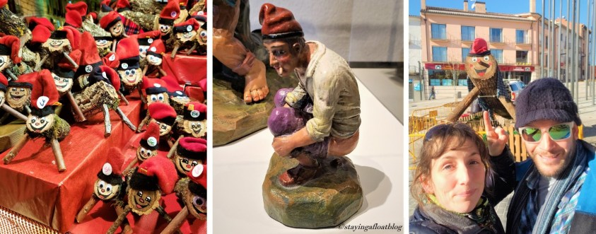 Caga Tios at Market; Caganer in his glory; Life size Caga Tio in Olot
