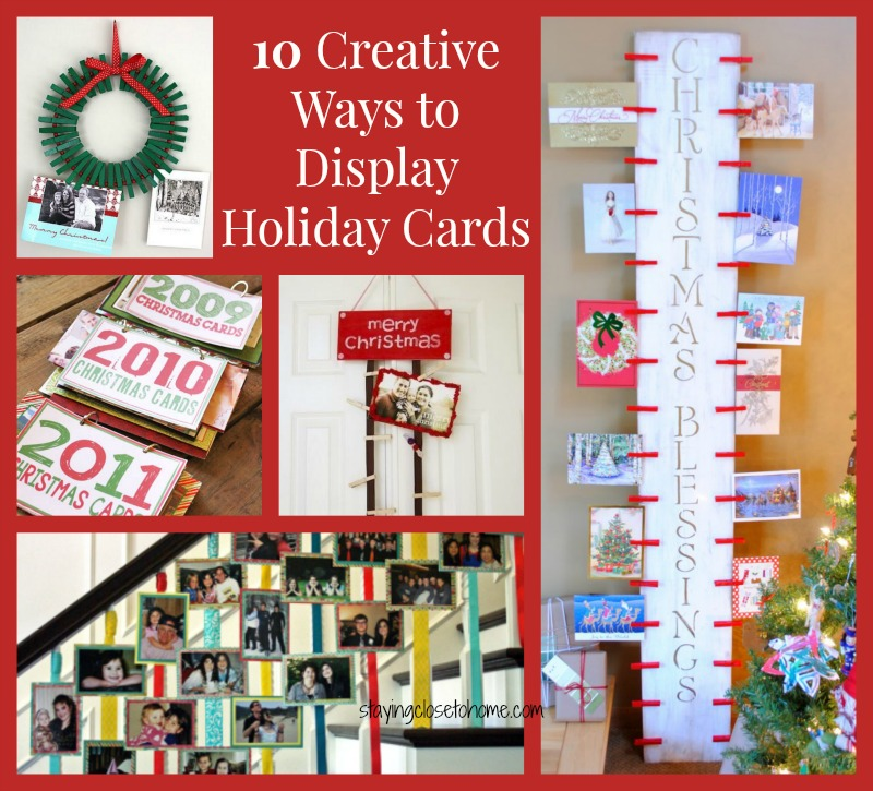 Holiday Cards Display Ideas Close To Home