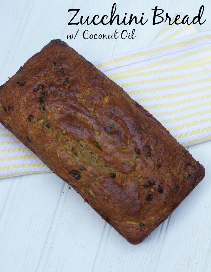 chocolate chip zucchini bread recipe with coconut oil