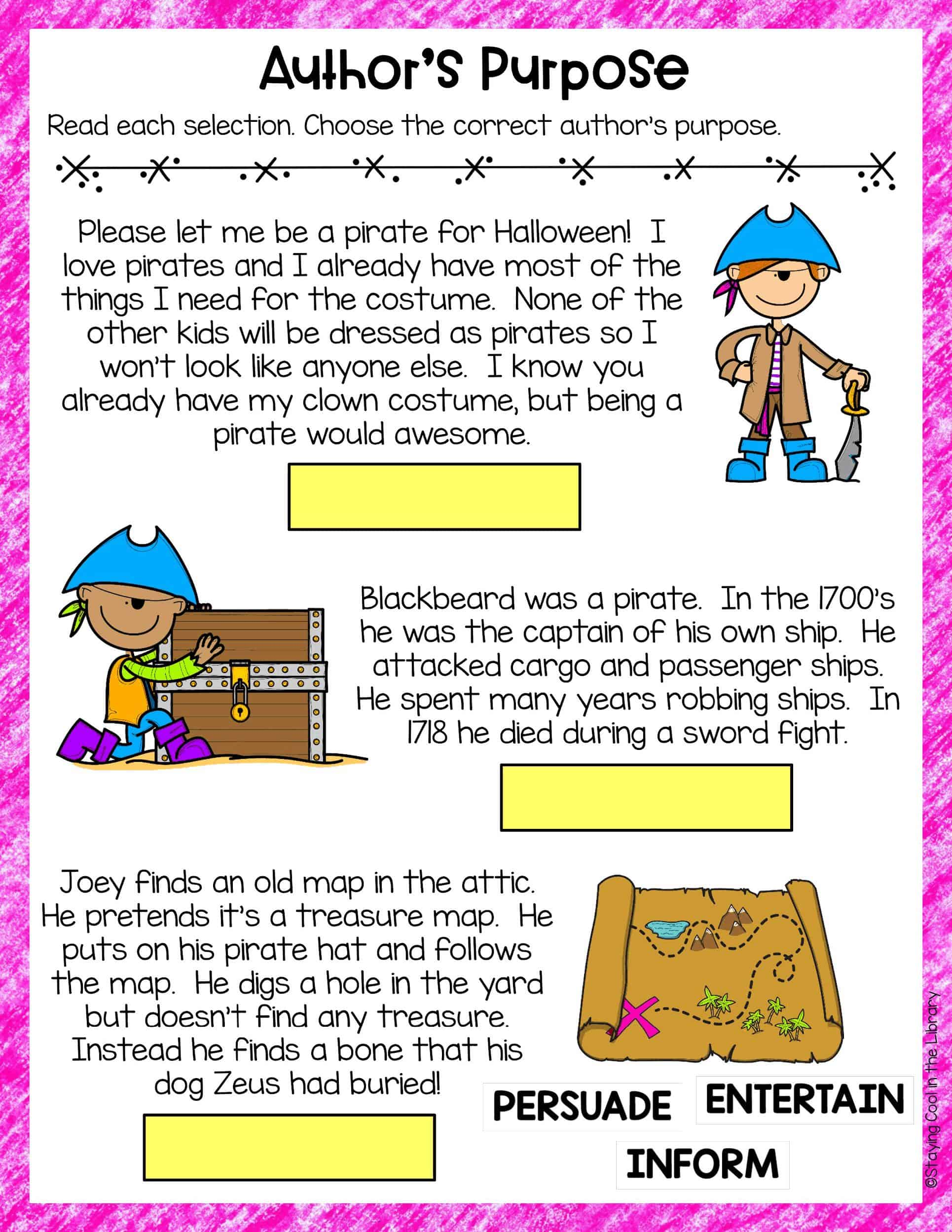 Author S Purpose Activities For Slides