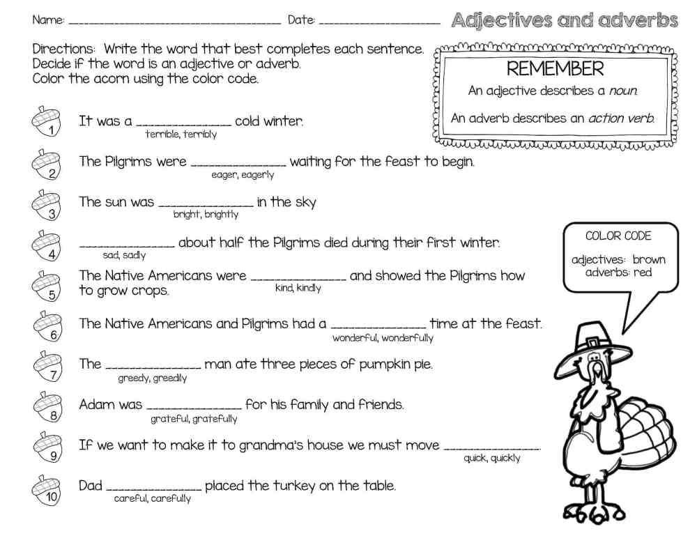 medium resolution of Thanksgiving Reading Comprehension Passages and Activities