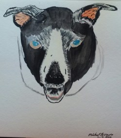 First attempt in painting my dog Lilly