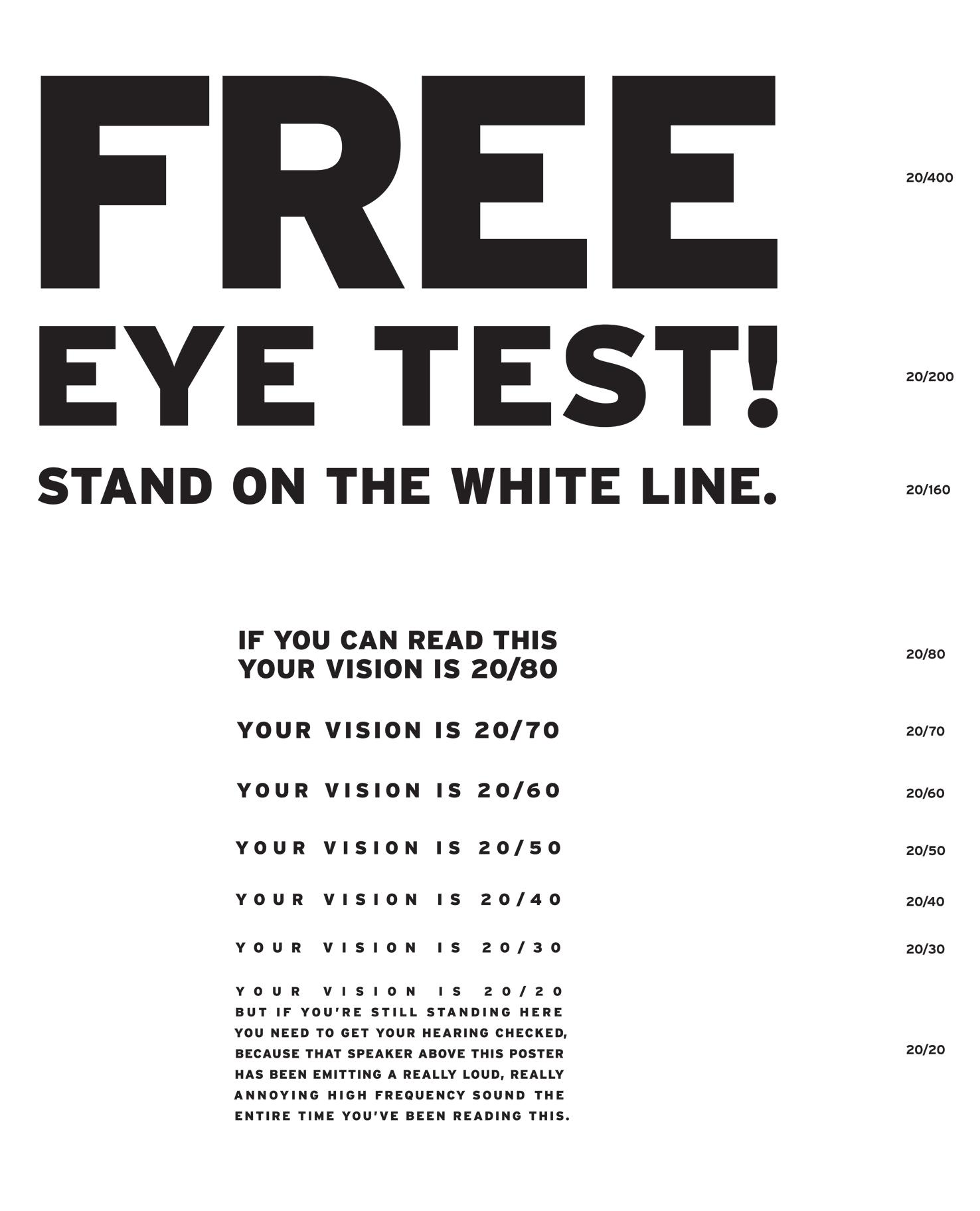 Reading Glasses Strength Test Online