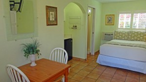 Our King Rooms feature a comfortable Cal King bed, clean bathroom with a shower or tub, kitchenette w/ microwave, coffee maker, refrigerator and stove top in room #20; Flat Screen Cable TV; Free Wi-Fi and dining area.