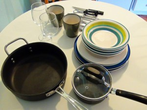 Our kitchenettes are equipped with all the dishes and utensils you will need for your stay.
