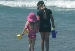 Children enjoy how close the beach is to Leucadia Beach