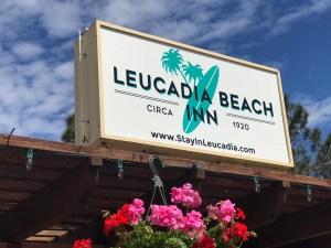 Our new sign at Leucadia Beach Inn