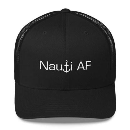 Nauti AF Trucker Hat in Black